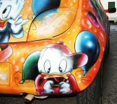 Airbrushing on Cars