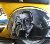 Airbrushing on Motorcycle and Scooter